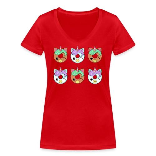 Unicorn Donut - T-shirt ecologica da donna con scollo a V di Stanley & Stella
