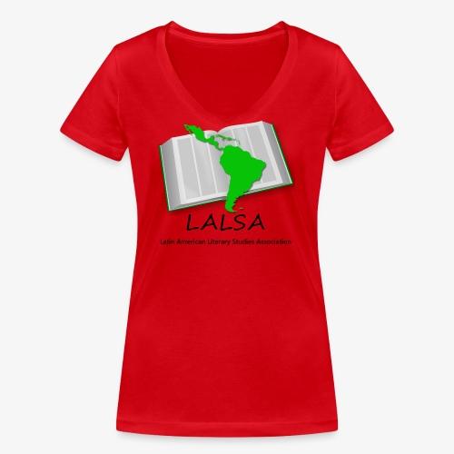 LALSA Dark Lettering - Women's Organic V-Neck T-Shirt by Stanley & Stella