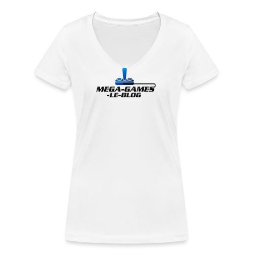 mega games le blog 4 png - T-shirt bio col V Stanley & Stella Femme