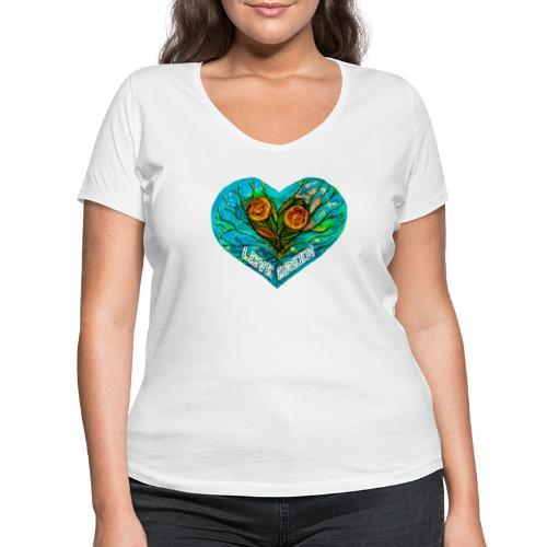 Lovegreen - Camiseta ecológica mujer con cuello de pico de Stanley & Stella