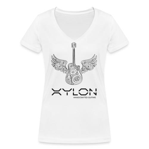 Xylon Guitars Premium T-shirt - Women's Organic V-Neck T-Shirt by Stanley & Stella