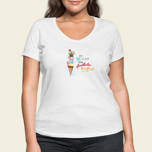 Eis - glückliche Kindheit - Frauen Bio-T-Shirt mit V-Ausschnitt von Stanley & Stella