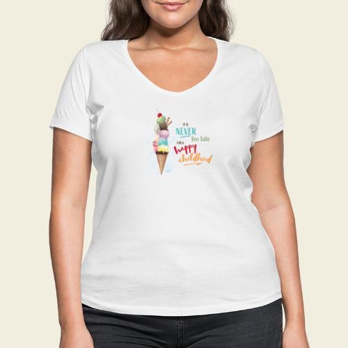Eis - Kindheit - Frauen Bio-T-Shirt mit V-Ausschnitt von Stanley & Stella
