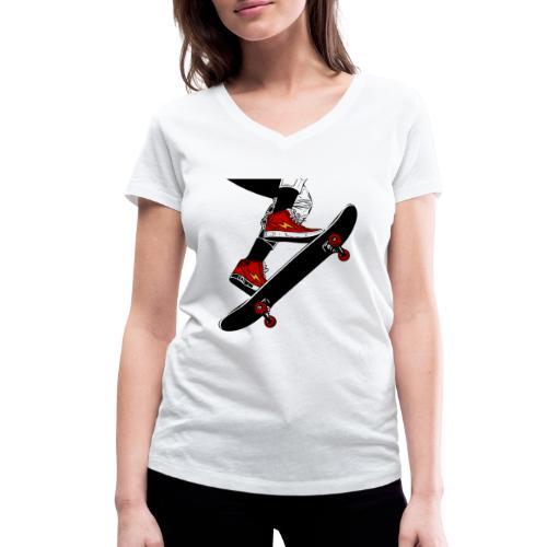 Skating - T-shirt ecologica da donna con scollo a V di Stanley & Stella