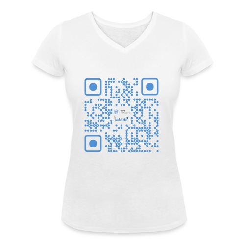 QR Maidsafe.net - Women's Organic V-Neck T-Shirt by Stanley & Stella