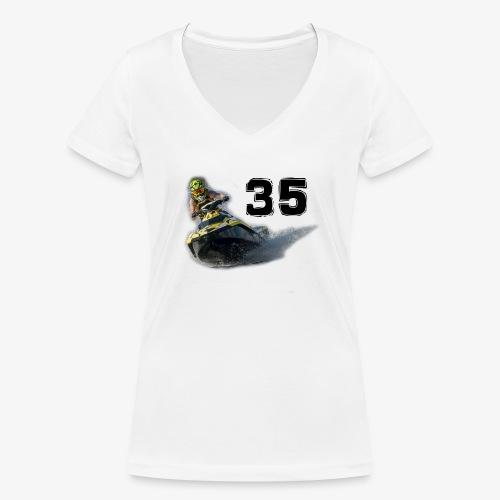 jetski35 - Stanley & Stellan naisten v-aukkoinen luomu-T-paita