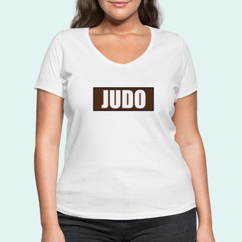 Judo Braun 1. Kyu - Frauen Bio-T-Shirt mit V-Ausschnitt von Stanley & Stella