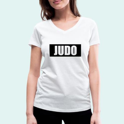 Judo Schwarz DAN - Frauen Bio-T-Shirt mit V-Ausschnitt von Stanley & Stella