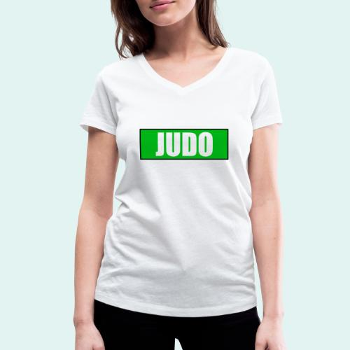 Judo Gruen 3. Kyu - Frauen Bio-T-Shirt mit V-Ausschnitt von Stanley & Stella