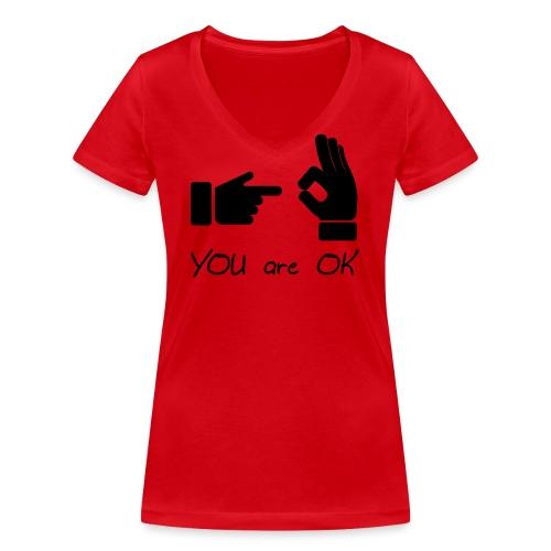 Tu vas bien (sexe, drôle) - T-shirt bio col V Stanley & Stella Femme