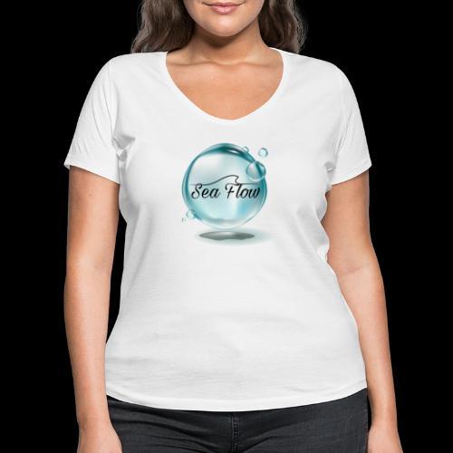 abbigliamento e tazze logo Sea Flow Bolla - T-shirt ecologica da donna con scollo a V di Stanley & Stella