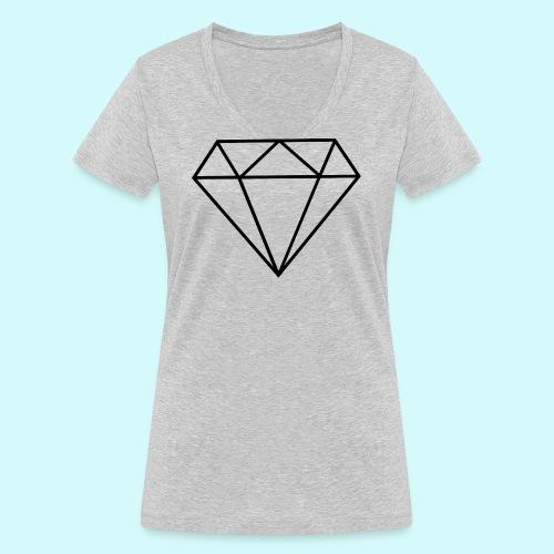 Diamant 5 - Frauen Bio-T-Shirt mit V-Ausschnitt von Stanley & Stella