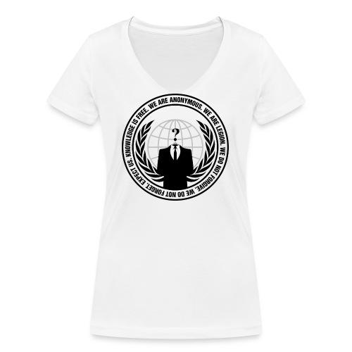 Anonymous Logo With Sloga - Stanley & Stellan naisten v-aukkoinen luomu-T-paita