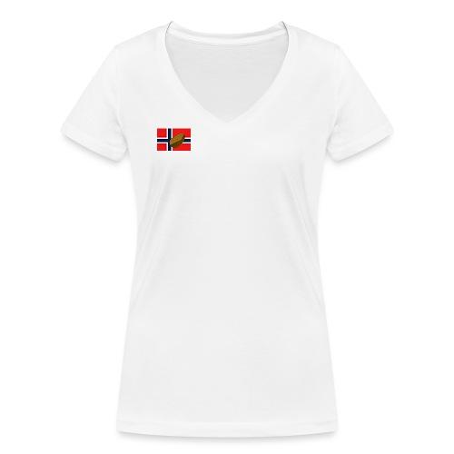 NorPot - Økologisk T-skjorte med V-hals for kvinner fra Stanley & Stella