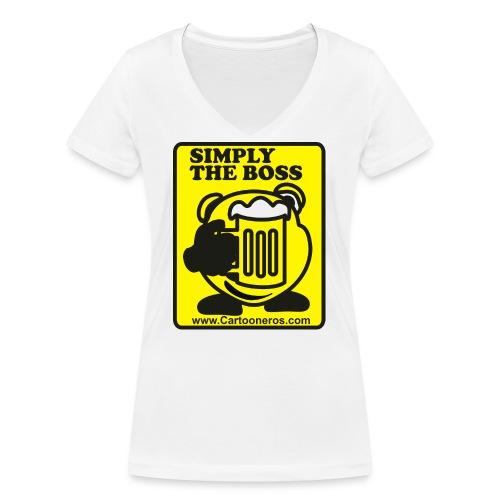 Simply the Boss - Women's Organic V-Neck T-Shirt by Stanley & Stella