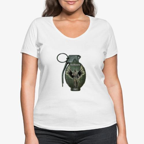 grenadearma3 png - Women's Organic V-Neck T-Shirt by Stanley & Stella