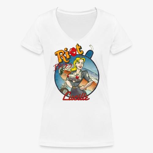 Riot Babes – Lucille - Frauen Bio-T-Shirt mit V-Ausschnitt von Stanley & Stella
