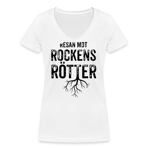 Nallebjörn, Rockens rötter - Ekologisk T-shirt med V-ringning dam från Stanley & Stella