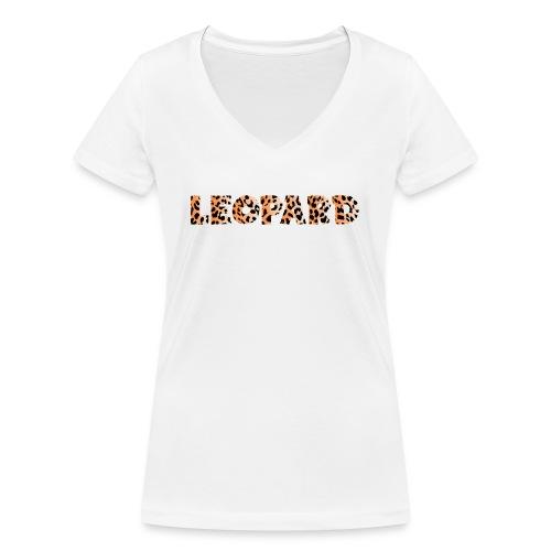 leopard 1237253 960 720 - Frauen Bio-T-Shirt mit V-Ausschnitt von Stanley & Stella