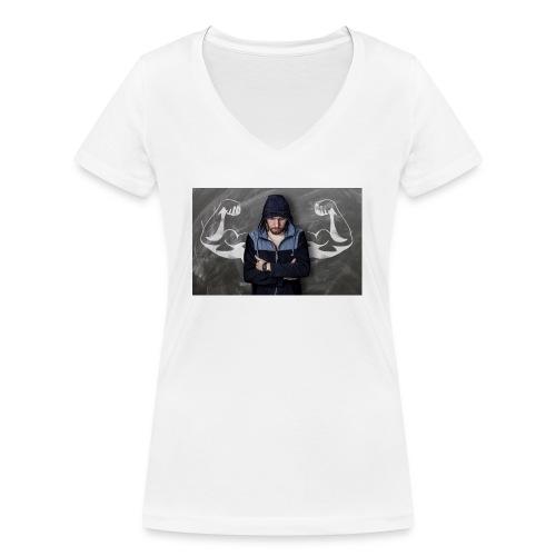 Power - Frauen Bio-T-Shirt mit V-Ausschnitt von Stanley & Stella