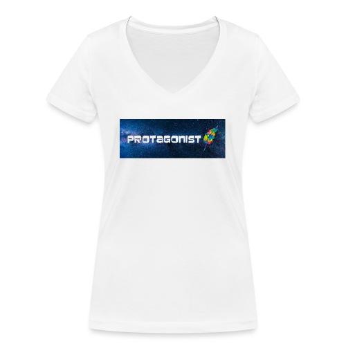 Protagonist by Schreiben-im-Flow.de - Frauen Bio-T-Shirt mit V-Ausschnitt von Stanley & Stella
