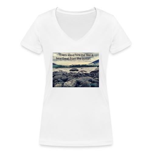 Oceanheart - Økologisk T-skjorte med V-hals for kvinner fra Stanley & Stella