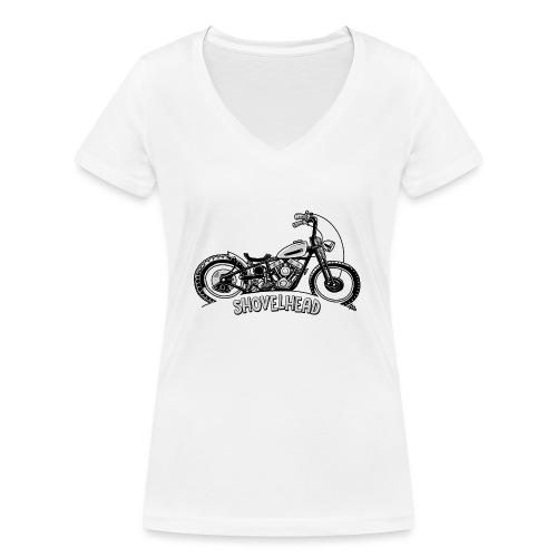 0917 chopper shovelhead - Vrouwen bio T-shirt met V-hals van Stanley & Stella