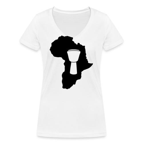 Djembe in Afrika - Frauen Bio-T-Shirt mit V-Ausschnitt von Stanley & Stella