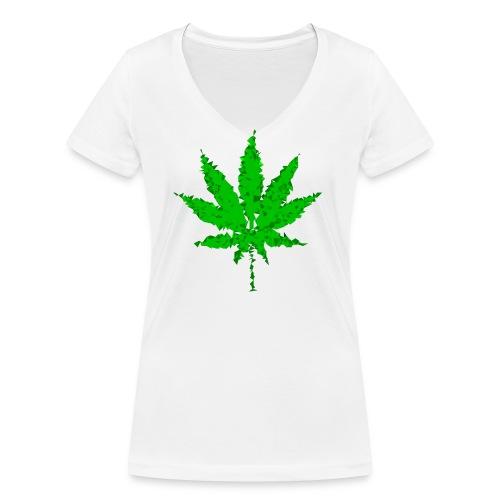 triangulated image 5 png - Frauen Bio-T-Shirt mit V-Ausschnitt von Stanley & Stella