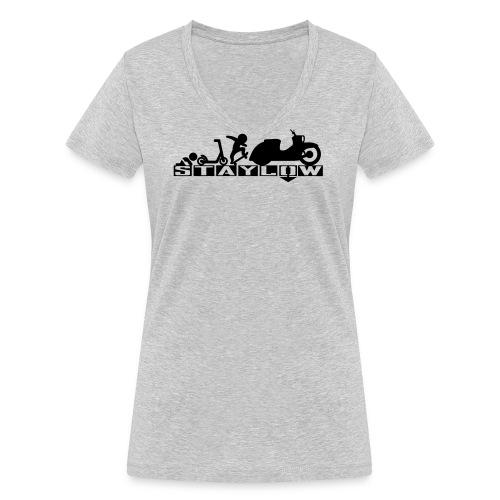 STAYLOW Skater - Frauen Bio-T-Shirt mit V-Ausschnitt von Stanley & Stella