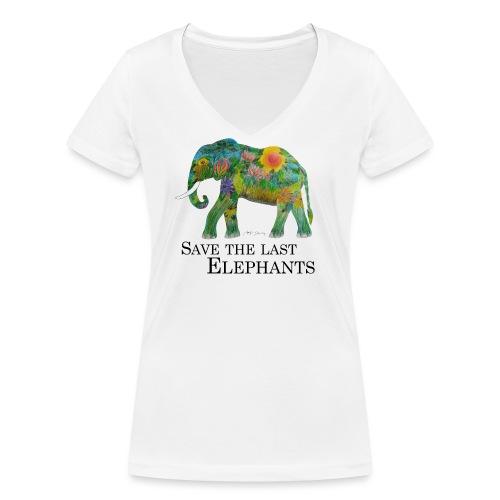Save The Last Elephants - Frauen Bio-T-Shirt mit V-Ausschnitt von Stanley & Stella