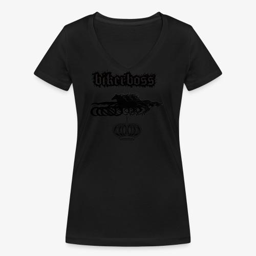 horsebiker - T-shirt bio col V Stanley & Stella Femme