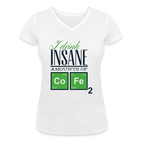 Breaking Coffee Shirt - Frauen Bio-T-Shirt mit V-Ausschnitt von Stanley & Stella