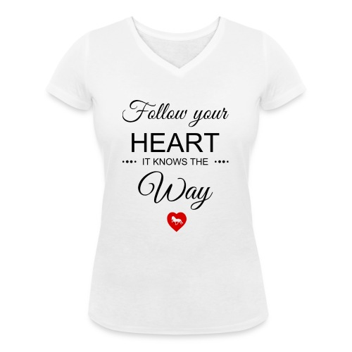 follow your heartbesser - Frauen Bio-T-Shirt mit V-Ausschnitt von Stanley & Stella