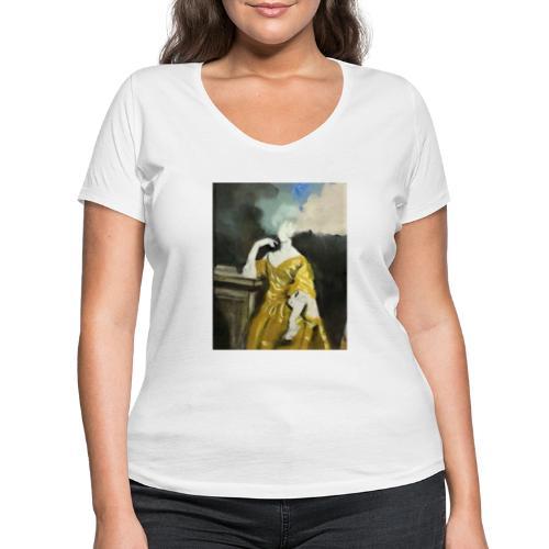 Donna sognatrice, in giallo - T-shirt ecologica da donna con scollo a V di Stanley & Stella