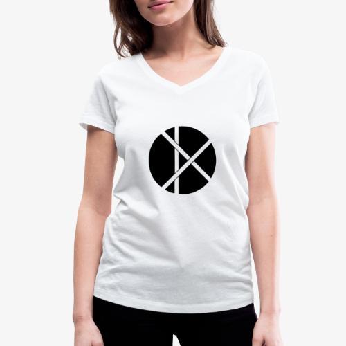 Don Logo - musta - Stanley & Stellan naisten v-aukkoinen luomu-T-paita