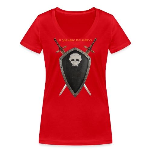 Stemma Negromanti - T-shirt ecologica da donna con scollo a V di Stanley & Stella