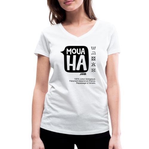 MOUAHA étiquette - T-shirt bio col V Stanley & Stella Femme