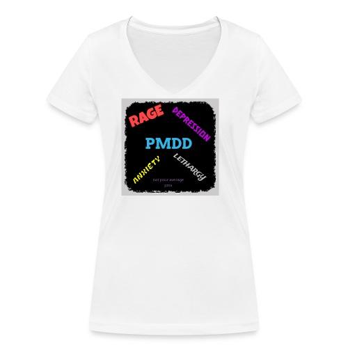 Pmdd symptoms - Women's Organic V-Neck T-Shirt by Stanley & Stella