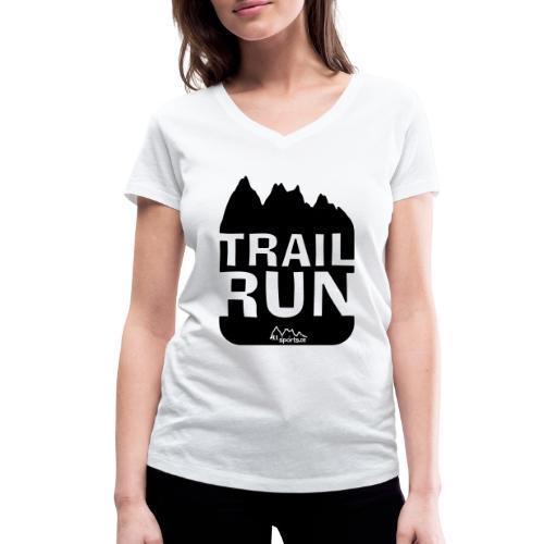 Trail Run - Frauen Bio-T-Shirt mit V-Ausschnitt von Stanley & Stella