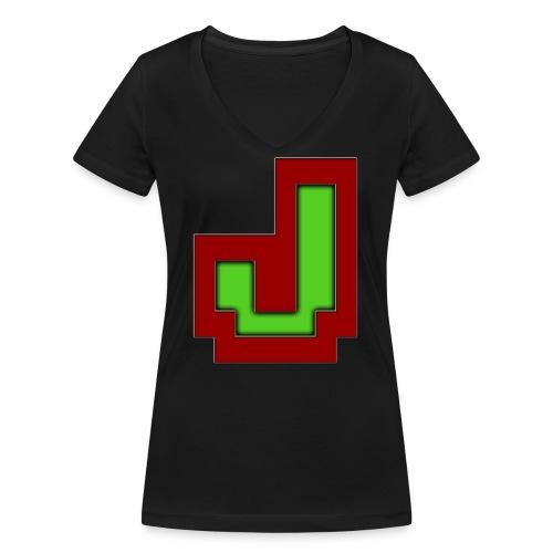 Stilrent_J - Økologisk Stanley & Stella T-shirt med V-udskæring til damer