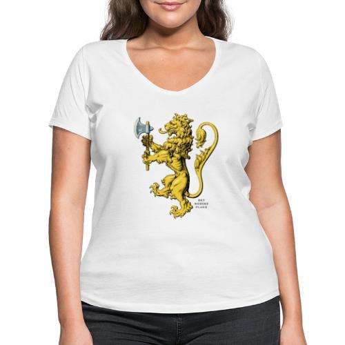 Den norske løve i gammel versjon - Økologisk T-skjorte med V-hals for kvinner fra Stanley & Stella
