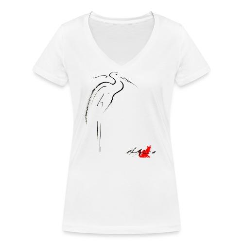 AIRONE - T-shirt ecologica da donna con scollo a V di Stanley & Stella
