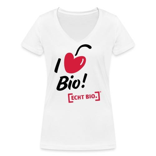 I love Bio! - Frauen Bio-T-Shirt mit V-Ausschnitt von Stanley & Stella