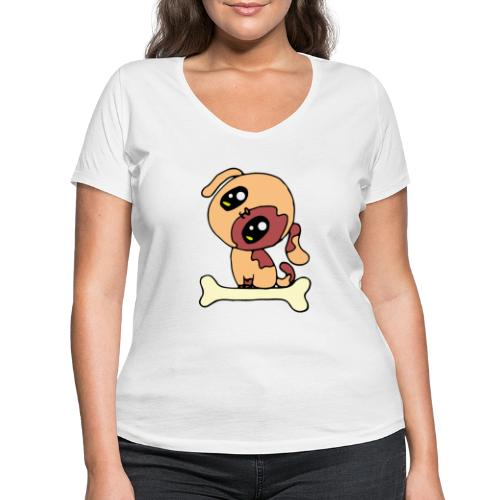 Kawaii le chien mignon - T-shirt bio col V Stanley & Stella Femme