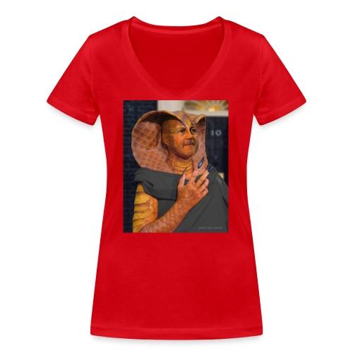 King Cobra - Women's Organic V-Neck T-Shirt by Stanley & Stella