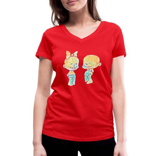 Bambini innamorati - T-shirt ecologica da donna con scollo a V di Stanley & Stella