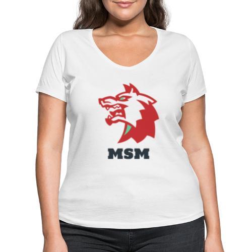 MSM WOLF - Økologisk Stanley & Stella T-shirt med V-udskæring til damer