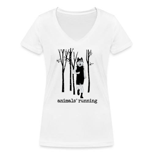 Loup running - T-shirt bio col V Stanley & Stella Femme