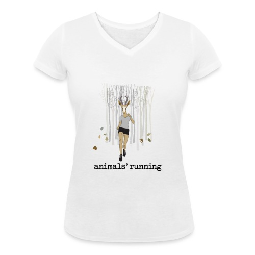 Antilope running - T-shirt bio col V Stanley & Stella Femme
